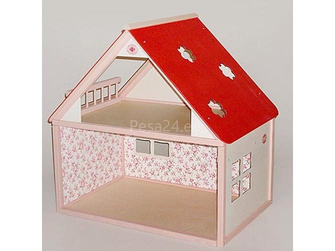 Nukumaja Roosi maamaja, roosa/valge