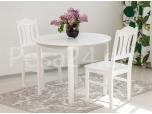 Laud ümar 100x100+39  2 tooliga