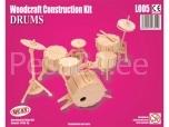 3D puzzle trummid