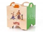 Lotte mänguasjadekast ratastega 4 roheline/oranz