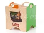 Lotte mänguasjadekast ratasteta 1 roheline/oranz