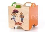 Lotte mänguasjadekast ratastega 3 roheline/oranz