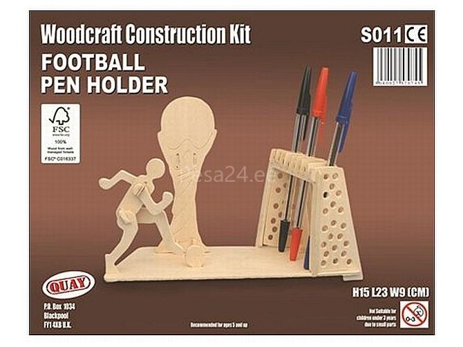 3D puzzle jalgpallur-pliiatsihoidja