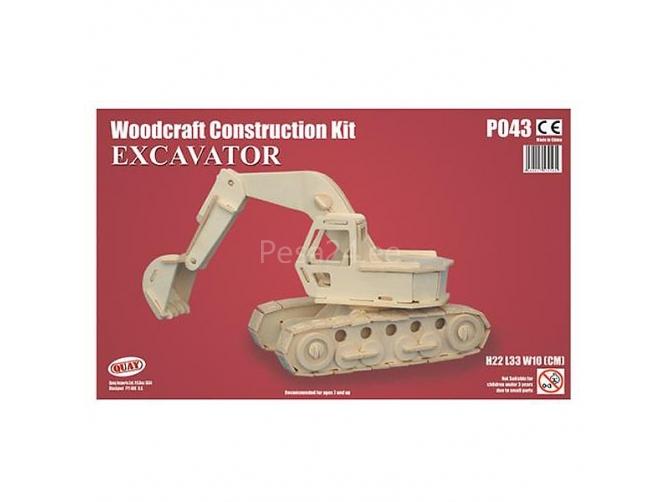 3D puzzle Ekskavaator