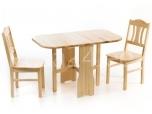 Klapplaud 120x70 ja 2 tooli