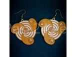 Kõrvarõngad Jing-Jang, vineerist