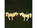 Kõrvarõngad Hobused, vineerist