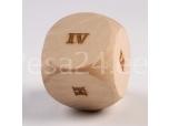 Täring Rooma numbrid, puidust