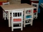 Lastelaud Miki 100x70 + 4 tooli