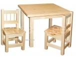 Lastelaud Miki 70x70 + 2 tooli