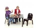 Lastelaud Pipa kandiline 3 tooliga