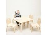 Lastelaud Pipa kandiline koos 4 tooliga