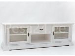 Tv-laud Family-3 kahe klaasuksega valge