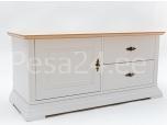 Tv-laud Family-2 ukse ja kahe sahtliga valge/tammespoon