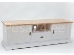 Tv-laud Family-3 kahe ukse ja kahe sahtliga valge/tammespoon
