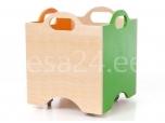 Lotte kast pildita ratastega 10 roheline/oranz
