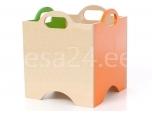 Lotte kast pildita ratasteta 11 roheline/oranz