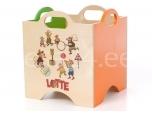 Lotte mänguasjadekast ratasteta 2 roheline/oranz